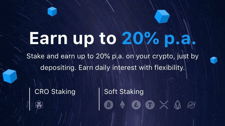 20% p.a interest on crypto.com earn exchange web